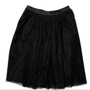 Black Tulle Pull On Skirt